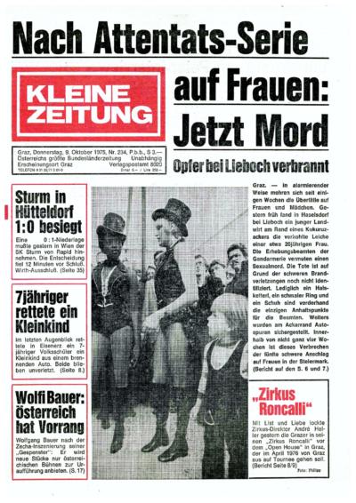 Kleine Zeitung, 9. Oktober 1975